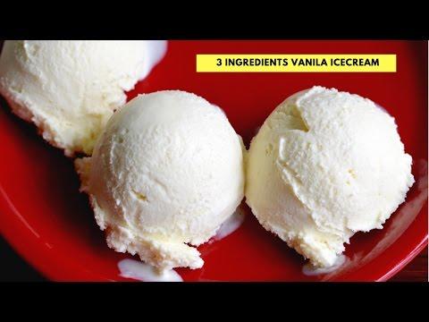 Homemade Vanilla Ice Cream -  No Egg - No Ice Cream Machine- Step By Step Vanila Ice Cream Recipe