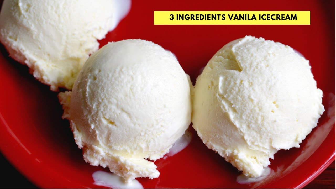 Homemade Vanilla Ice Cream No Egg No Ice Cream Machine Step By Step Vanila Ice Cream Recipe Youtube