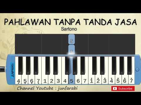 Not Pianika Hymne Guru / Pahlawan Tanpa Tanda Jasa - Belajar Pianika