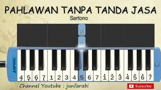 Gambar cover not pianika hymne guru / pahlawan tanpa tanda jasa - belajar pianika