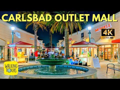 Carlsbad Premium Outlet Mall | San Diego Travel  | 4K Walking Tour