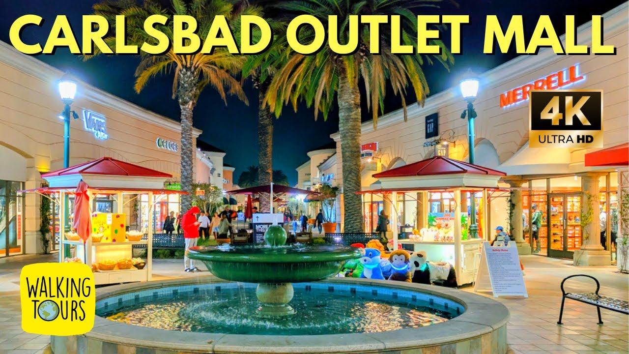 1e05dc6aab5e1 Carlsbad Premium Outlet Mall | San Diego Travel | 4K Walking Tour