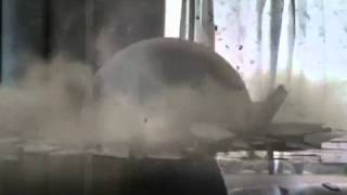 Indian getting  crushed under iron ball