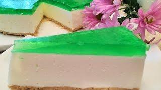 Торт -Суфле  ЛАЙМОВЫЙ без выпечки.ПРОСТО и ВКУСНО.  Soufflé Cake without baking