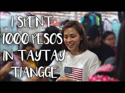 I SPENT 1,000 PESOS IN TAYTAY TIANGGE | Toni Gonzaga