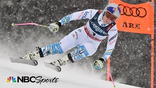 Lindsey Vonn skis downhill run of super-combined, first since super-G crash | NBC Sports