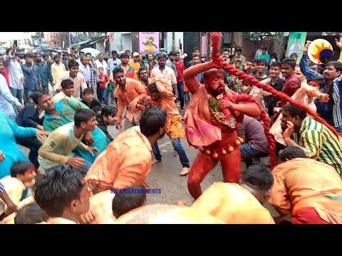 Old City Laldarwaza Mahankali Bonalu 2017 II POTHARAJU DANCE II HYDERABAD