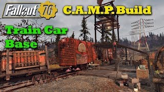 Fallout 76 C.A.M.P. Build: Train Boxcar Base