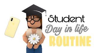 Student Day in Life Routine || Roblox bloxburg