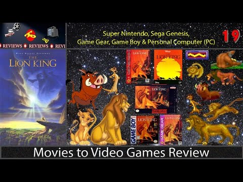 Movies to Video Games Review -- The Lion King (Super Nintendo, Genesis, PC, Game Boy and GameGear)