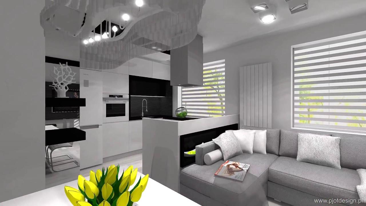 Projekt Meble Kuchenne Salon Jadalnia W Bloku Ka Youtube