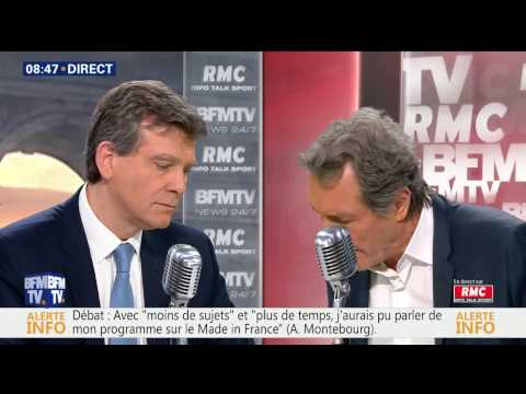 Arnaud Montebourg face à Jean Jacques Bourdin