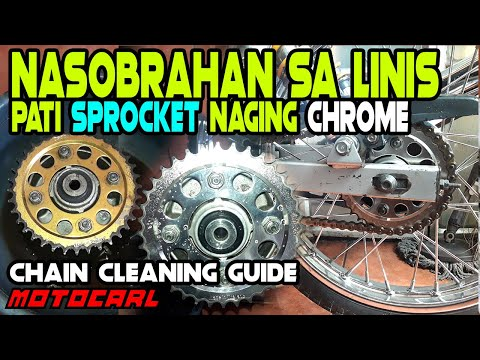 How to Full chain cleaning | Honda XRM125