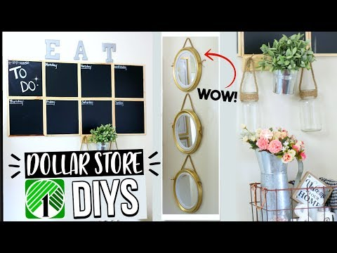 Easy DIY DOLLAR STORE HOME DECOR! SENSATIONAL FINDS