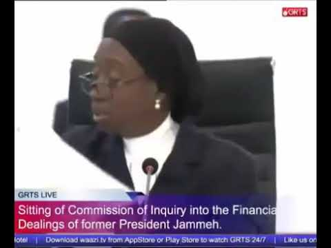 Former Central Bank Governor Amadou Colley Testifies At The Commission Of Enquiry