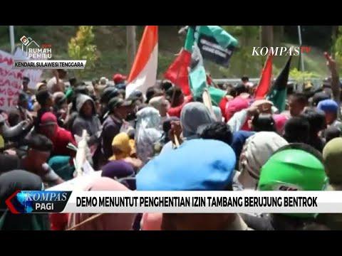 Detik-detik Demo Mahasiswa Kendari yang Berunjung Bentrok