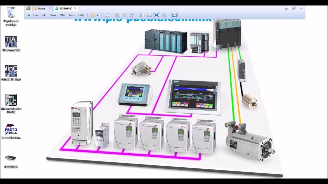 Interfaz Por Medio De Redes Utilizando Plc S7 1200 Y 300 Relay Control Electrical Circuit Design Simulation Software Cadesimu