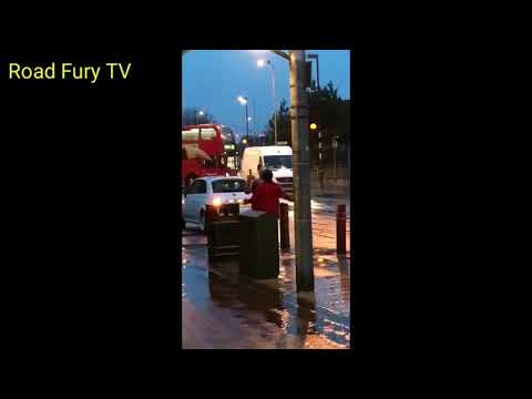 Road Rage UK Collision East London Street