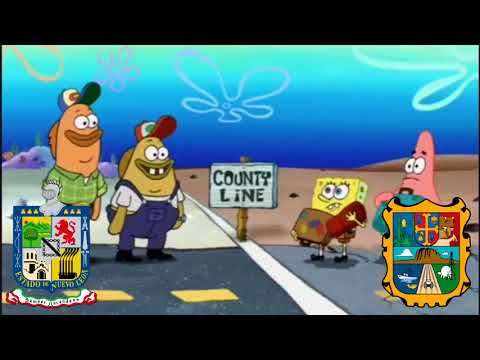 Mexican States portrayed by Spongebob