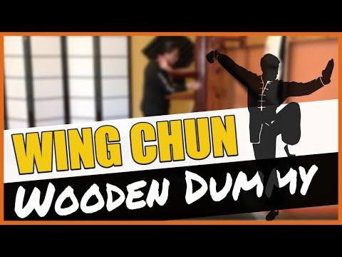 Wing Chun Wooden Dummy Quick Demo   Muk Jong   Kung Fu Training