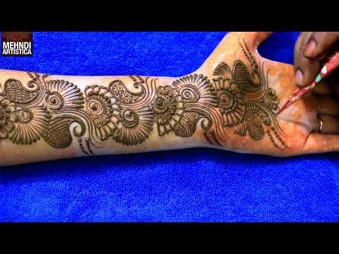 Learn Easiest Henna Mehndi Design | Step by Step Mehendi Designs for Hand | MehndiArtistica thumbnail