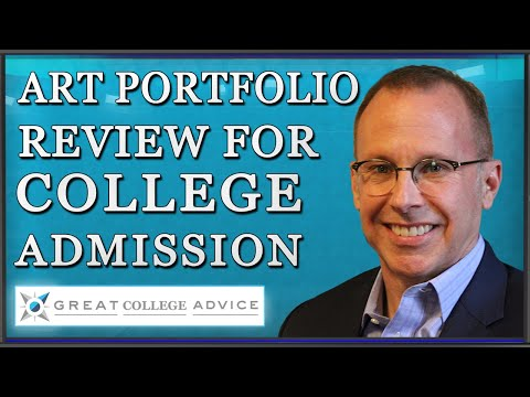 Portfolio Review of Artist Seeking Admission to Art School