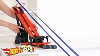 Хот Вилс с трюками на рельсах!Видео для детей