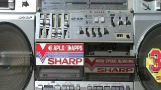 Repeat youtube video Sharp GF-575Z GF-575 575 Silver Boombox Phono Line in for sale
