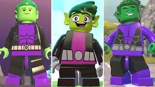 Evolution of Beast Boy + Transformations in LEGO Videogames