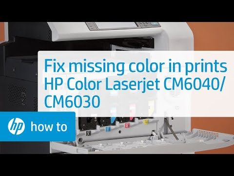 Solution to Missing Color When Printing - HP Color Laserjet CM6040/CM6030