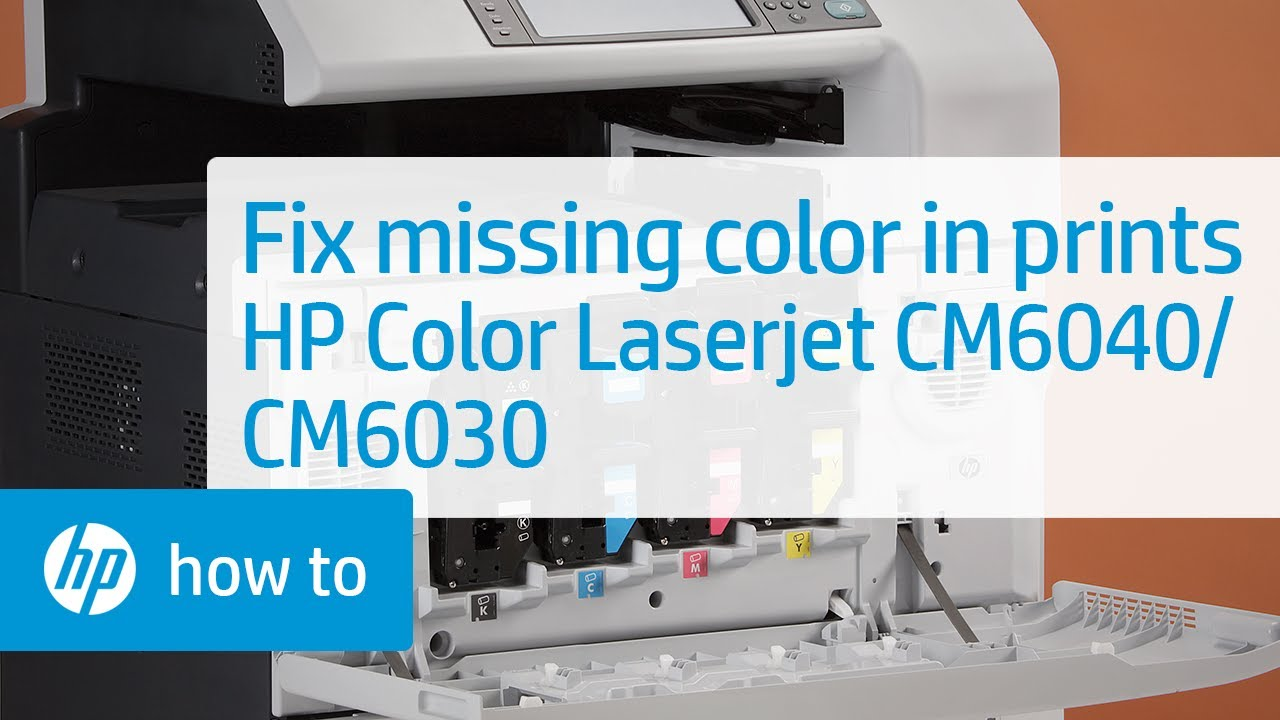 Solution To Missing Color When Printing Hp Color
