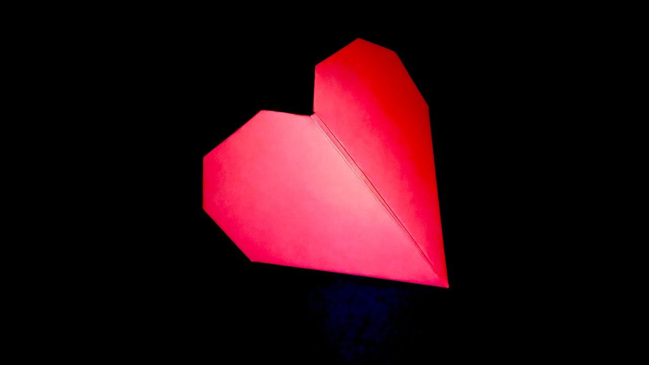 Origami heart 3d paper heart youtube jeuxipadfo Gallery