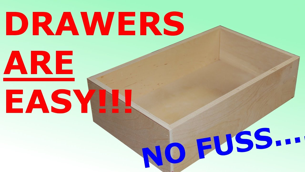 build kitchen cabinets white canisters how to make easy simple drawers youtube