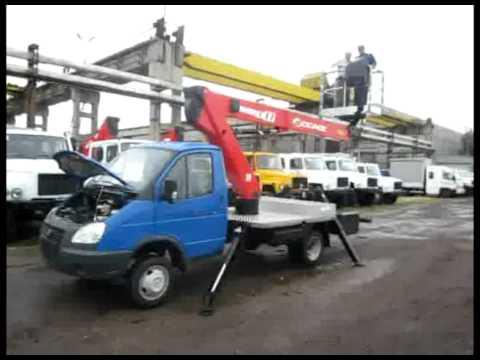 Работа автовышки Чайка-Сервис socage da-320 - YouTube
