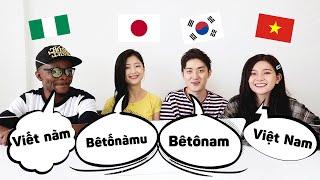CƯỜI TÉ GHẾ ! SO SÁNH PHÁT ÂM của Người Hàn, Việt, Nhật, Nigeria | Pronunciation Difference