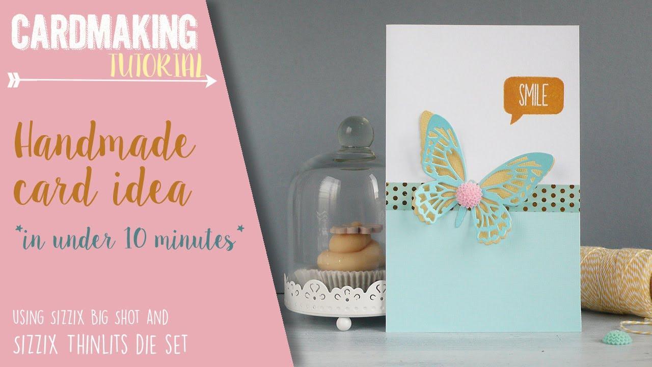 Card Making Ideas Sizzix Part - 28: Handmade Card Idea In Under 10 Minutes - Sizzix Challenge