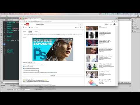 HTML - How To Embed A YouTube Video