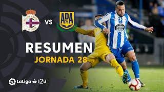 Resumen de RC Deportivo vs AD Alcorcón (2-2)