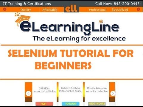 Selenium tutorial for beginner by ELearningLine @ 848-200-0448