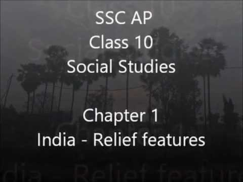 INDIA - RELIEF FEATURES Class 10 - SOCIAL STUDIES - SSC AP - by NARENDRA  KUMAR