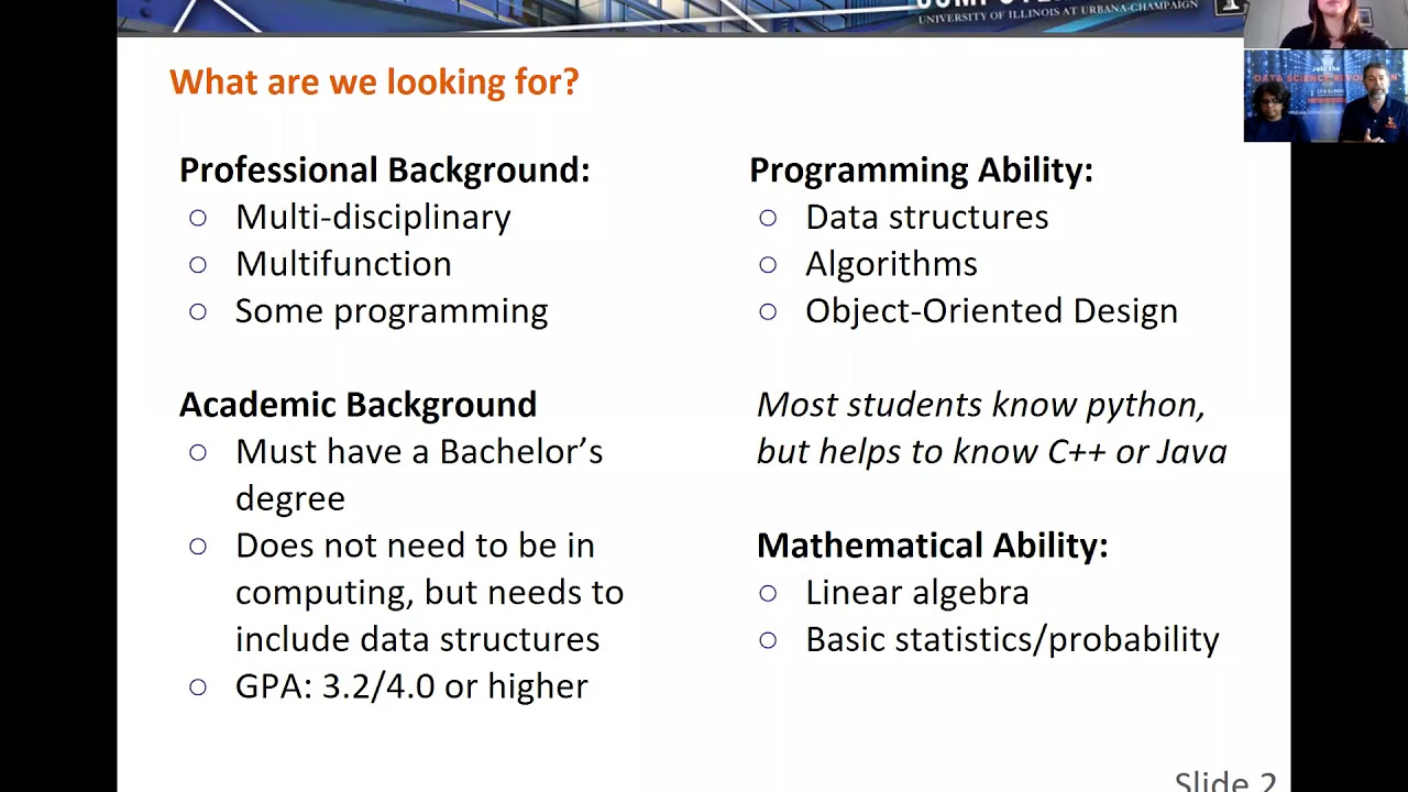 University of Illinois Master of Computer Science: A top-ranked degree that  fits your life
