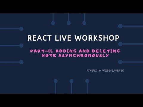11.Adding and Deleting notes asynchronously | React Js Bangla tutorial thumbnail