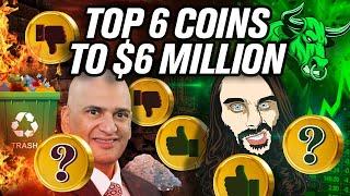 Teeka Tyler's Top 6 Coins to $6 Million Dollars (Tiwari