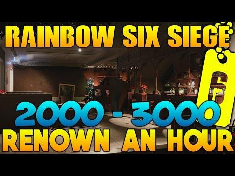 Rainbow Six Siege Easy Renown Farming Guide! 2000 - 3000 Renown an Hour!