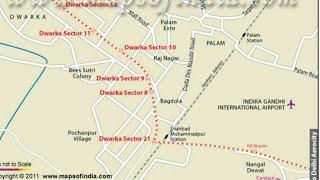 Dwarka Metro Route Map