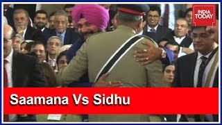 Navjot Singh Sidhu Stirs Row After Hugging Pak Army Chief In Lahore