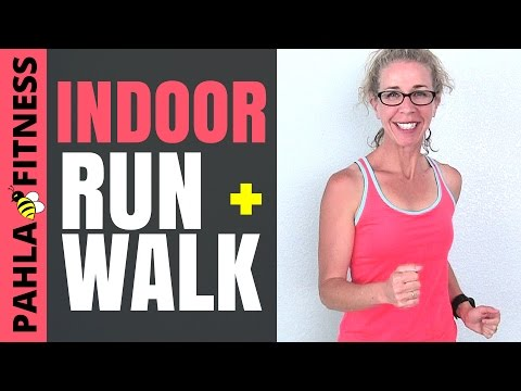Ladder Interval RUNNING + WALKING | Harlem's Indoor FUN RUN Workout