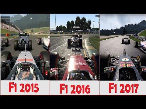 F1 2017 vs F1 2016 vs F1 2015 Gameplay comparision
