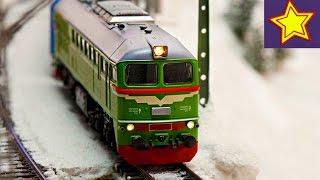 Огромная железная дорога, поезда и машинки. Идем в Гранд Макет Kids railway & cars models