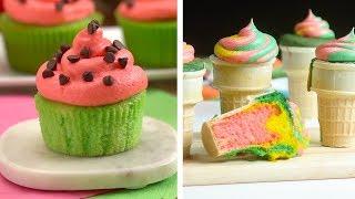 Tatlı Davranır Oluşturmak için 8 Kesmek! | Renkli Dondurma Kek ve Çikolatalı Tatlılar Çok Lezzetli